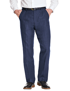 Poly Viscose Skopes Trouser With Stretch Waist & Teflon Coating - Navy