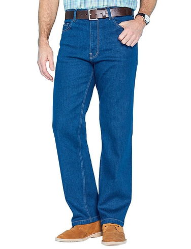 16937455 Mens Denim Trousers & High Waisted Elastic Jeans - Chums