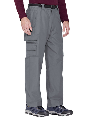 Fleece Lined Waterproof Action Trouser with Belt