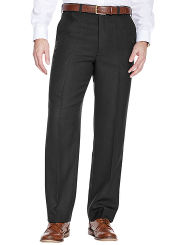 High Waisted Cavalry Twill Wool Blend Trouser - Black