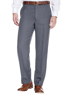 High Waisted Cavalry Twill Wool Blend Trouser