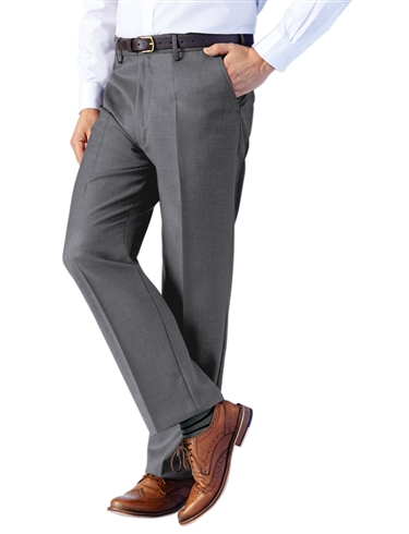 High Rise Traditional Woolblend Trousers