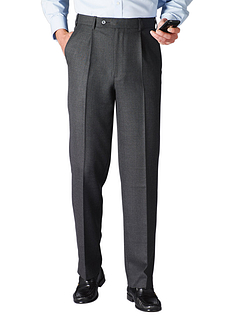 High Waisted Woolblend Trouser - Charcoal