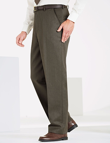 High Rise Wool Blend Cavalry Twill Trousers