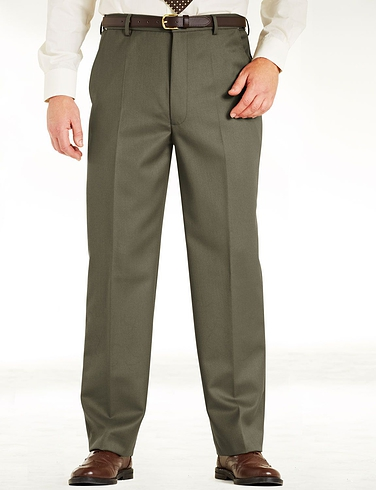 High Rise Woolblend Cavalry Twill Trouser