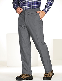 High Waist Fleece Lined Pull On Trouser