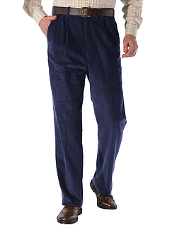 High Waist Corduroy Trouser - Navy