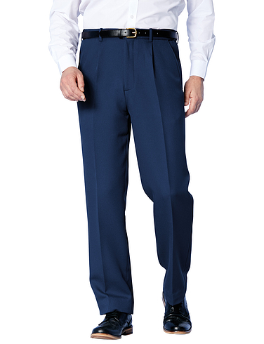 High Rise Easy Care Cavalry Twill Trouser