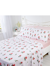 Rosebud Flanelette Sheet Set
