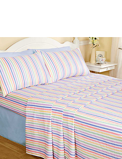 Candy Stripe Flannelette Sheet Set