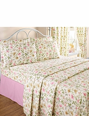 Cottage Garden Flannelette Sheet Set by Vantona