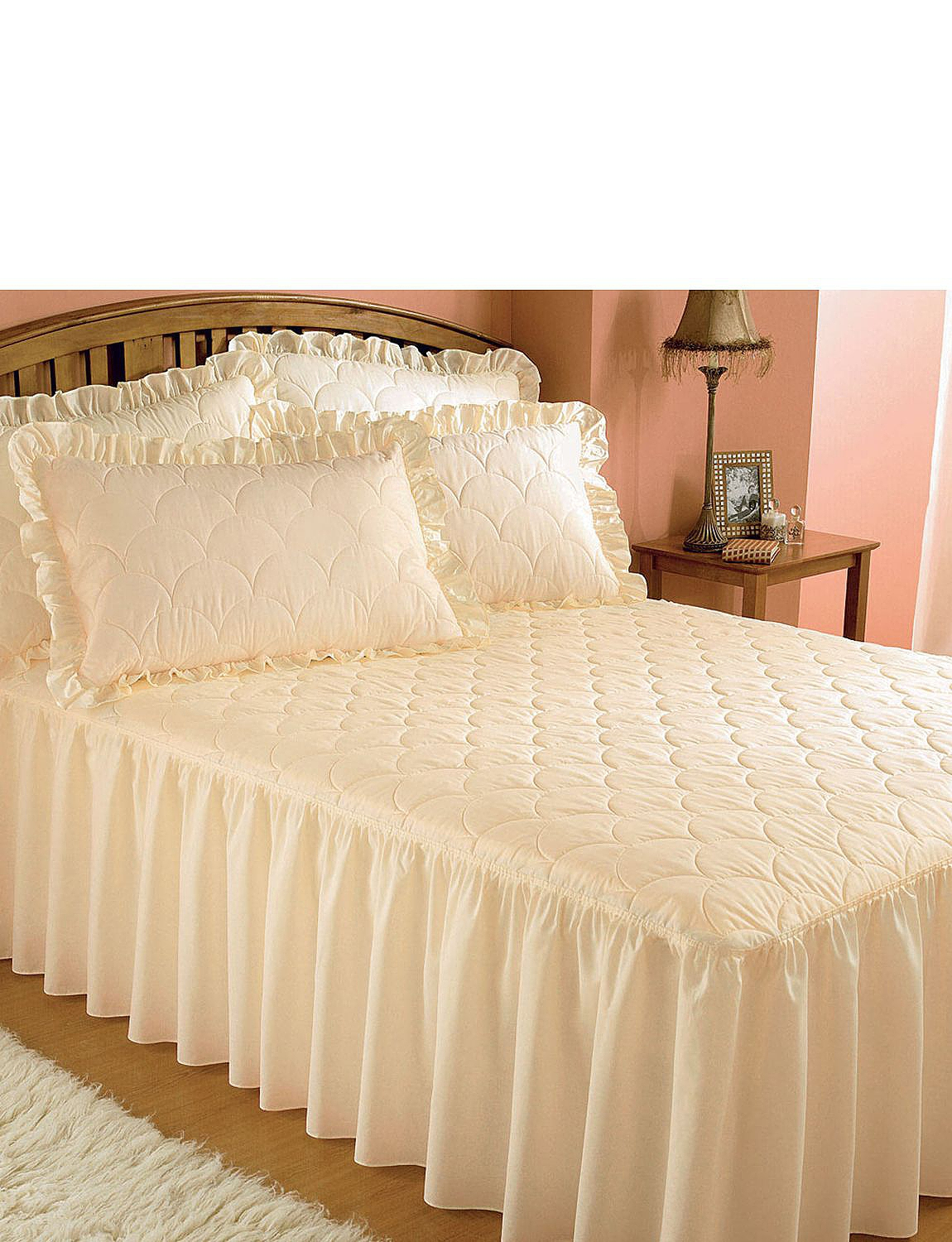 Luxury Plain Quilted Bedspread - Home Bedroom