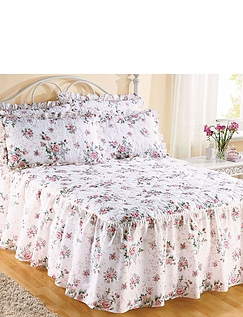 Rose Garden Quilted Bedspread and Pillowshams