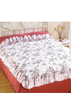 Rose Garden Quilted Bedding Collection - Eiderdown Style Quilt