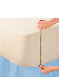18 Extra Deep Poly/ Cotton Fitted Sheets