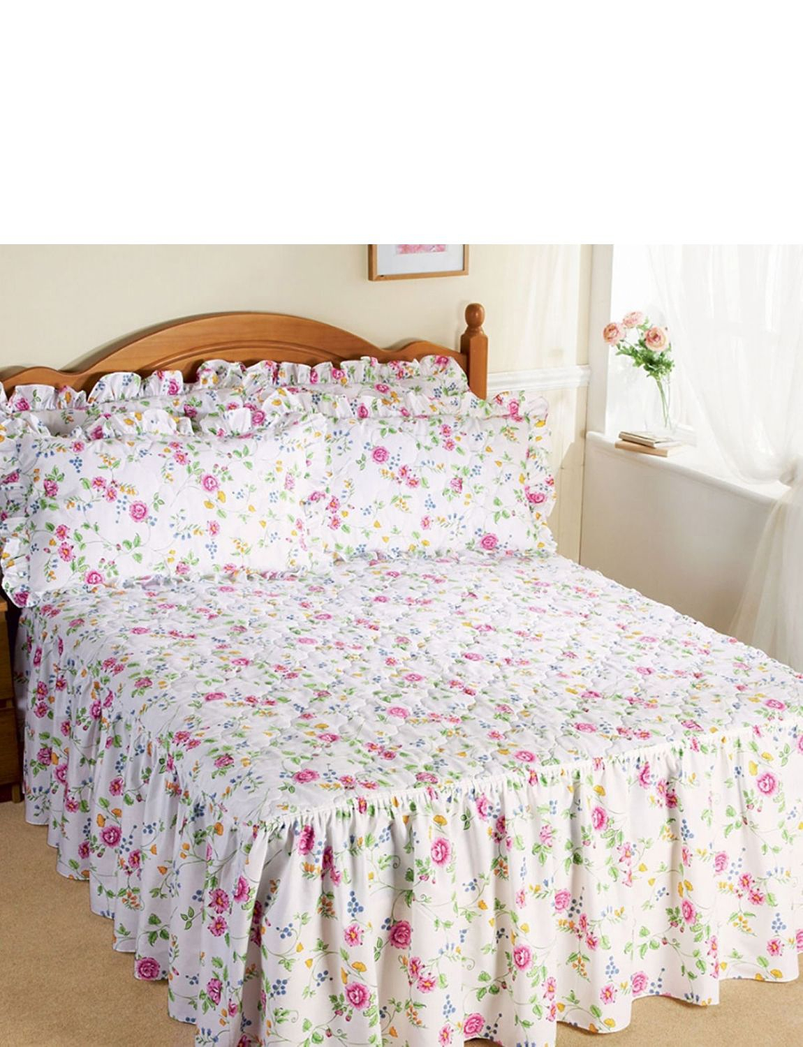 Collette Quilted Fitted Bedspread Home Bedroom