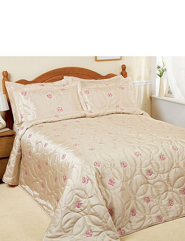 Michelle Embroidered Quilted Throwover