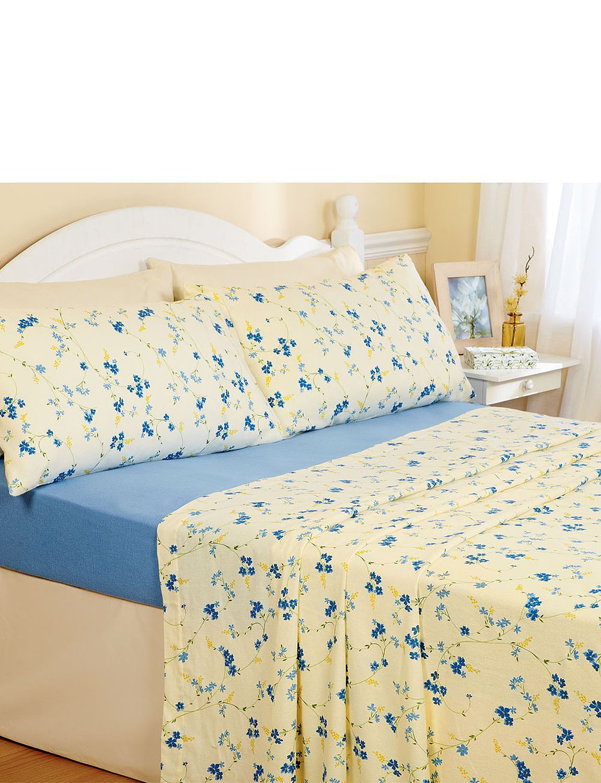 springtime flannelette sheet sets home. Black Bedroom Furniture Sets. Home Design Ideas