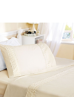 Yasmin Broderie Anglaise Sheet Sets by Belledorm