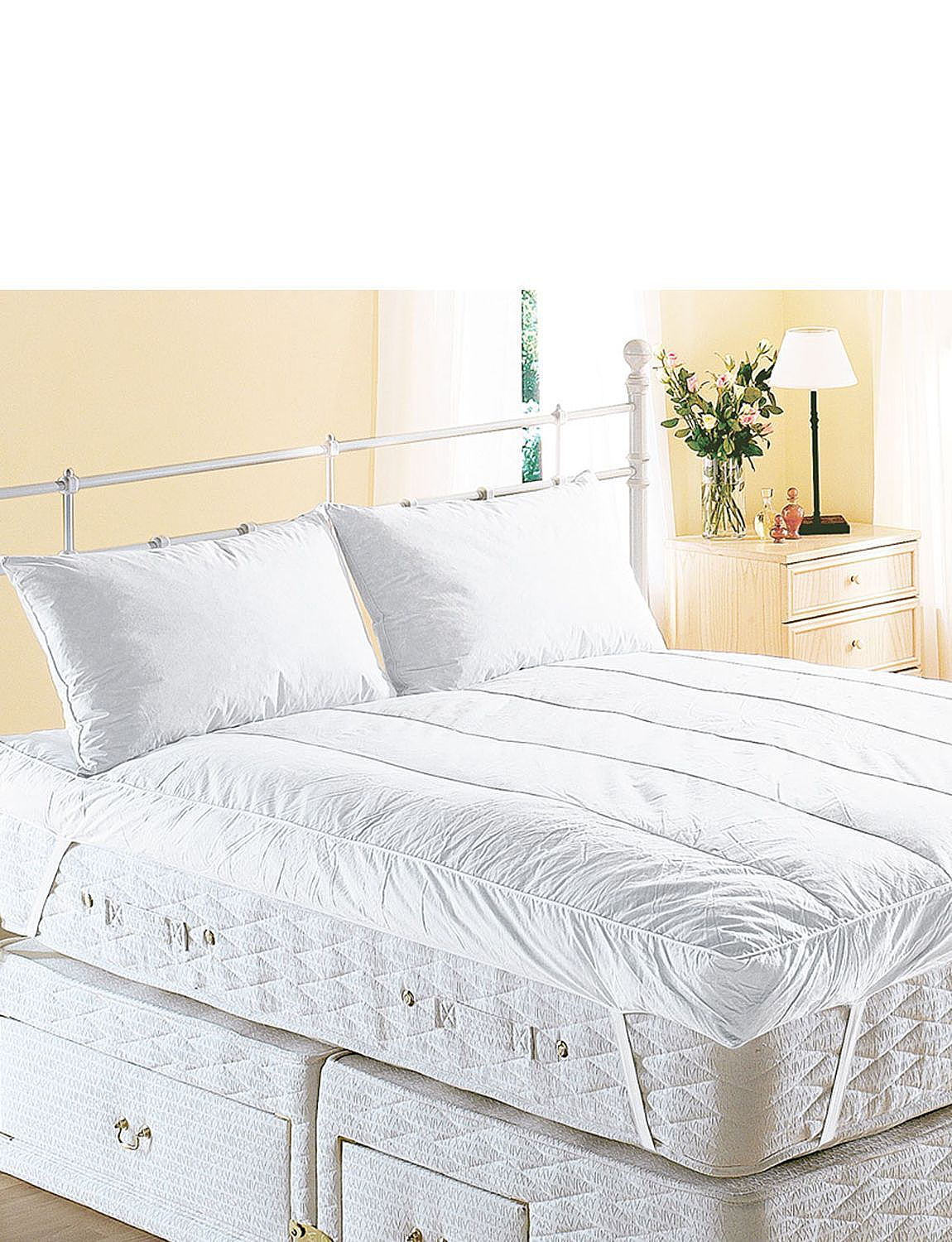 inch feather product featherbed box hotel grand baffle today shipping bed bedding gusset downtop free overstock luxurious bath
