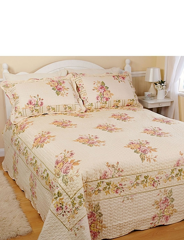 Chatsworth Quilted Throwover Bedspread with Free Pillowshams