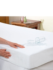Downland Luxury Flannelette Waterproof Mattress Protector