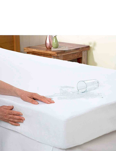 Luxury Waterproof Flannelette Mattress Protector with 12 Inch Skirt