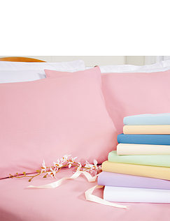 Belledorm Superfine 200 Count Percale Poly/Cotton Housewife Pillowcase
