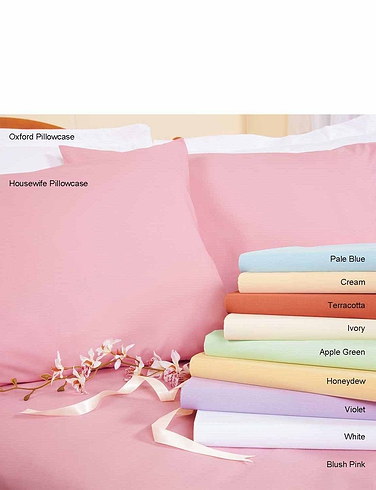 Belledorm Superfine 200 Count Poly/Cotton Housewife Pillowcases