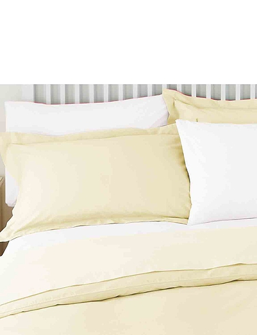 Superfine 200 Count Percale Poly/Cotton Housewife Pillowcases by Belledorm