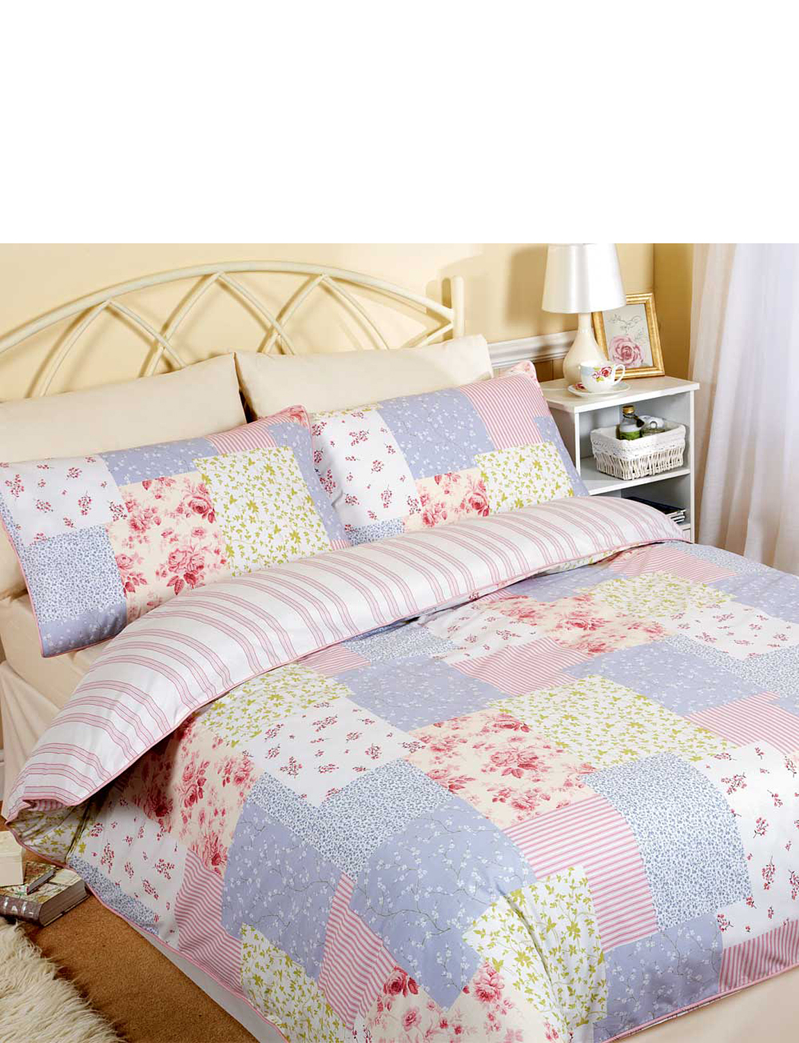 Catherine Vintage Patchwork Quilt Cover Amp Pillowcase Set