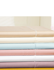 400 Thread-Count Egyptian Cotton Sateen Bedlinen 15 Inch Deep Fitted Sheet By Belledorm