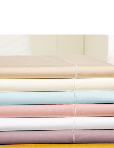 400 Thread-Count Egyptian Cotton Sateen Flat Sheet By Belledorm