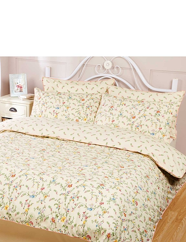 Claudine Quilt Cover & Pillowcase Set By Vantona