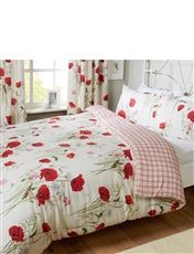 Wild Poppies Quilt Cover And Pillowcase Set By Catherine Lansfield