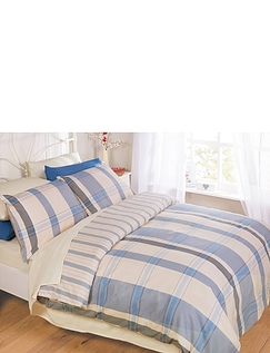 Boston Check Brushed Cotton Quilt Set By Belledorm