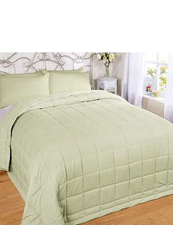 Soft-As-Down Quilted Throwover Bedspread