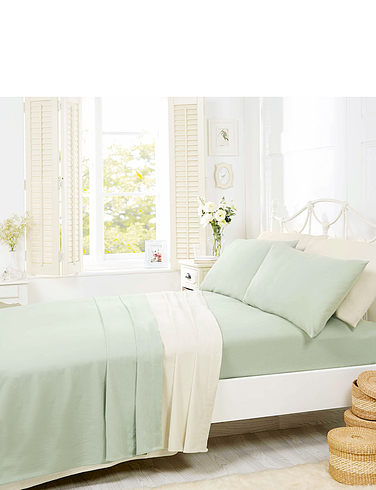 Belledorm Supersoft Plain Dyed Flannelette Pillowcase Pair