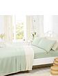 Belledorm Supersoft Plain Dyed Flannelette Pillowcase Pair