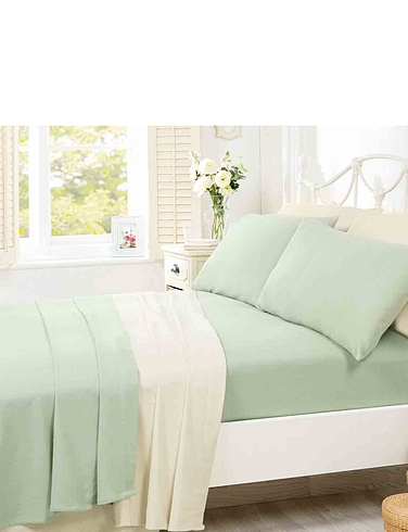 Supersoft Plain Dyed Flannelette Bedlinen by Belledorm -  Pillowcase