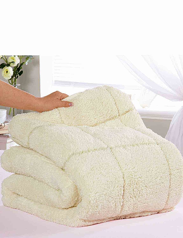 Sherpa Mattress Reversible Topper - Two Comfort Levels - Summer And Winter - Cream