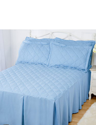 Jeanette Plain Quilted Bedspread