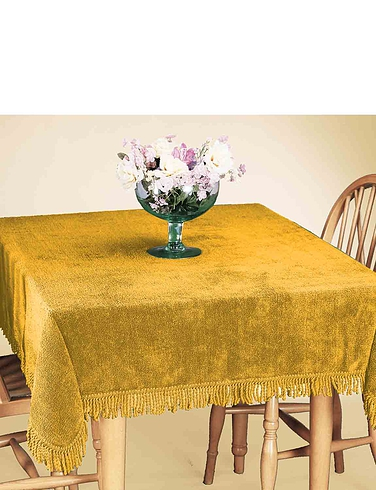 100% Pure Cotton Chenille Table Covers By Diana Cowpe