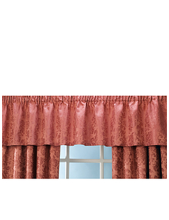 LANA LINED JACQUARD CURTAINS-STRAIGHT VALANCE