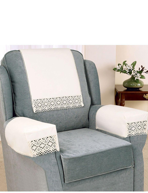 Non slip cotton lace furniture accessories home living for Furniture accessories