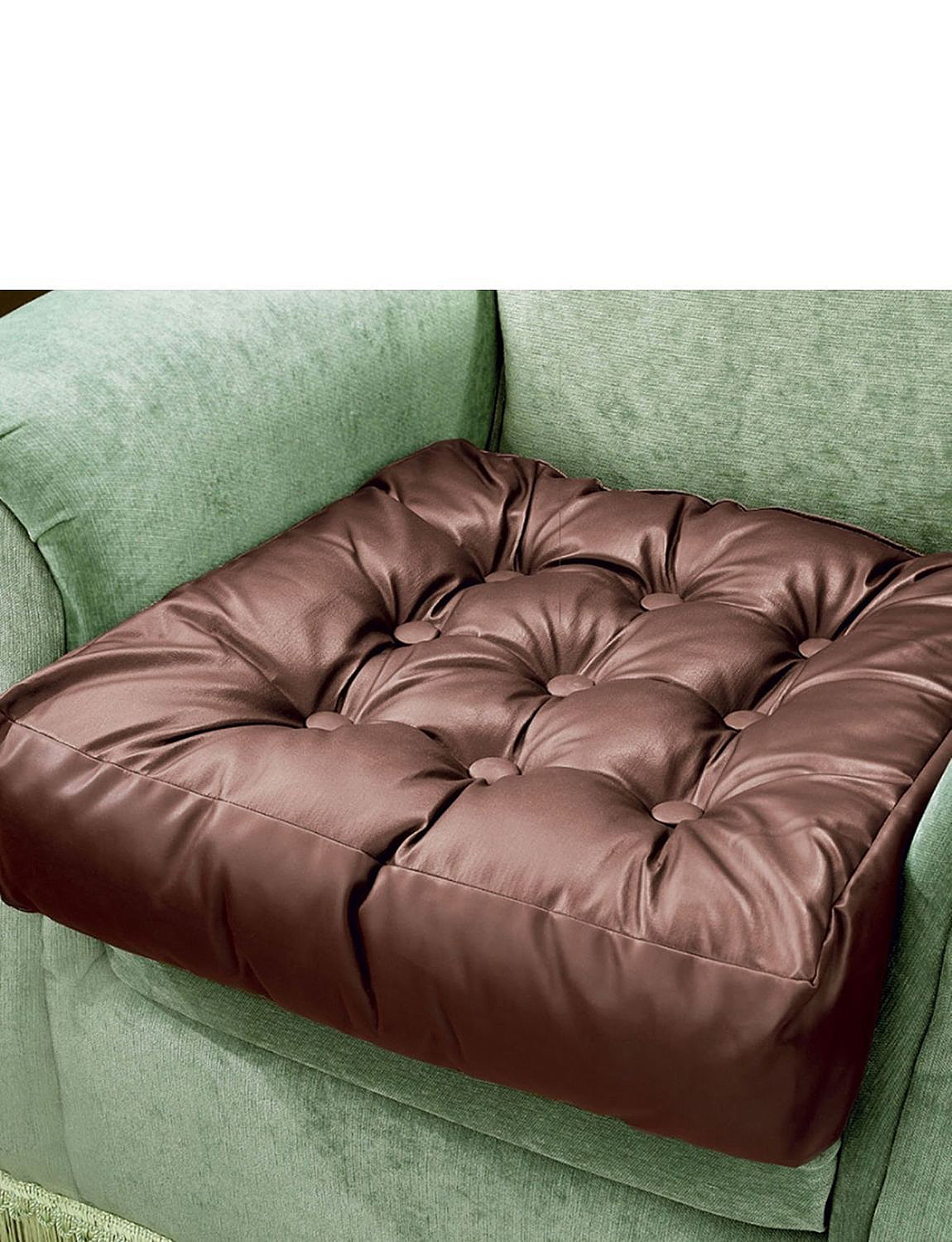 Faux Leather Booster Cushion Home Living Room