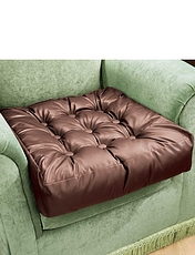 Faux Leather Booster Cushion