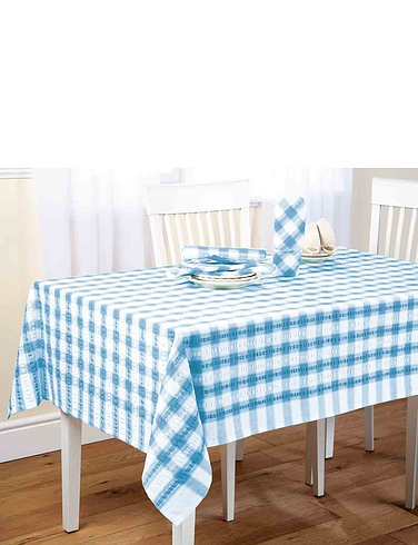 Seersucker Tablecloths and Napkins