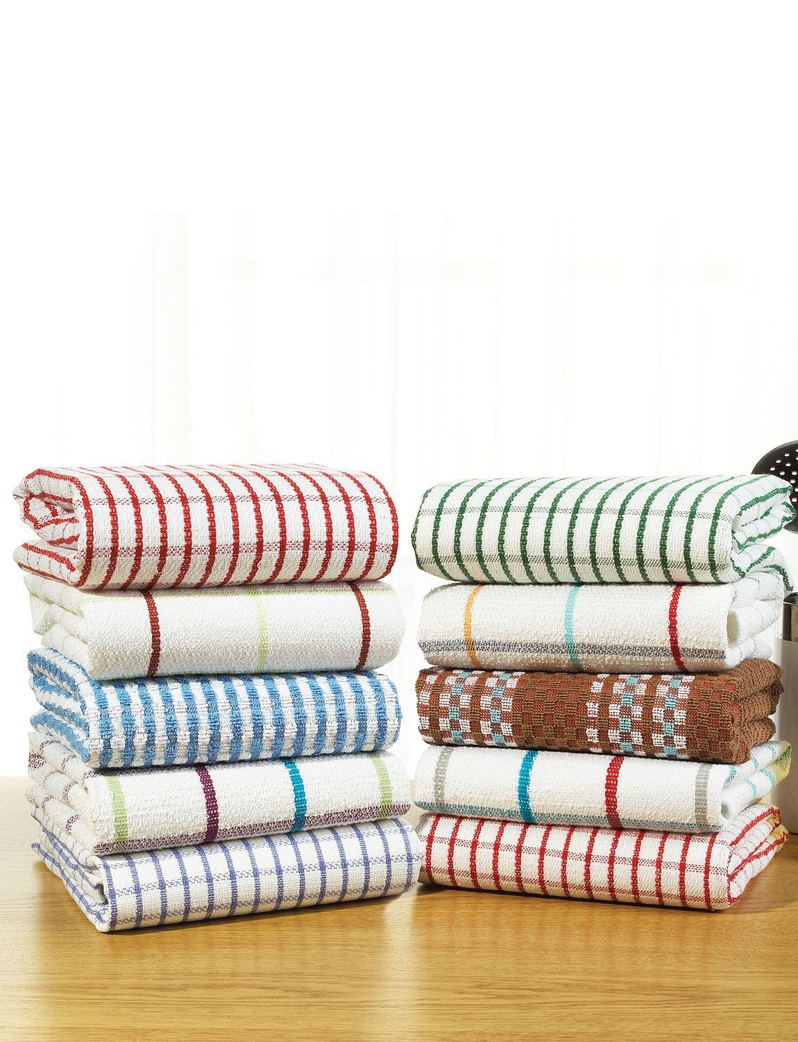 TERRY KITCHEN TOWELS (PACK OF TEN)
