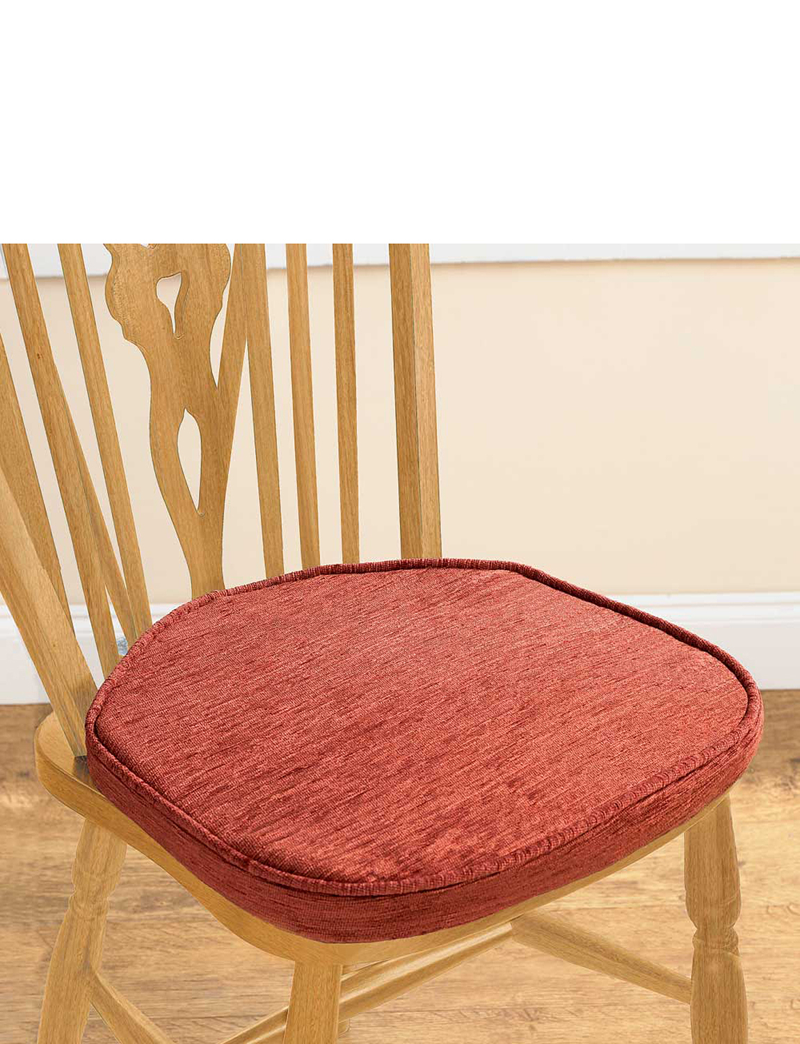 Chenille dining seat pads home kitchen dining for Dining room chair cushions